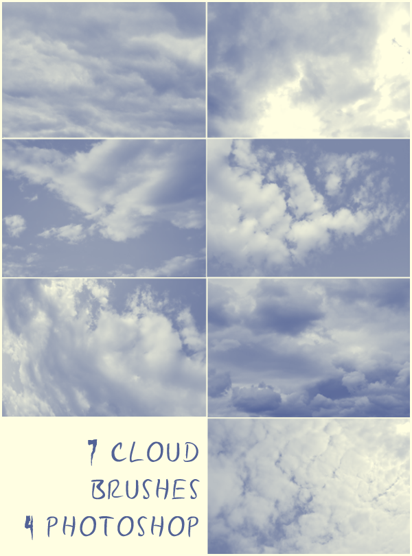 7 Cloud Brushes by lenawargo 30+ Free Photoshop Cloud Brushes