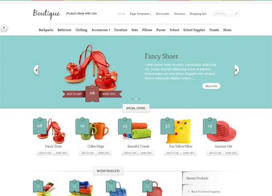 Boutique 20 Best Ecommerce Themes for WordPress Website