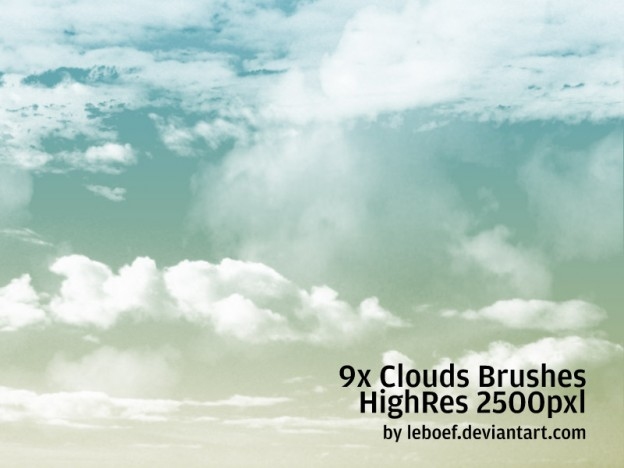 Cloud Brushes HiRes Nr 2 of 5 by leboef e1362656386631 30+ Free Photoshop Cloud Brushes