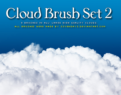 Clouds Brush Set 2 by s3vendays 30+ Free Photoshop Cloud Brushes