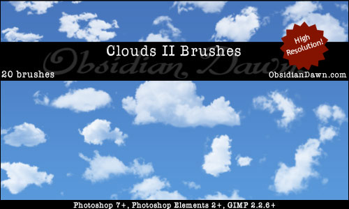 Clouds II Photoshop Brushes by redheadstock 30+ Free Photoshop Cloud Brushes
