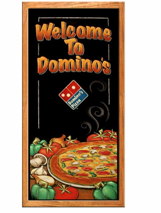 Dominos Pizza Brochure Cover A superb Collection of Restaurant Brochures