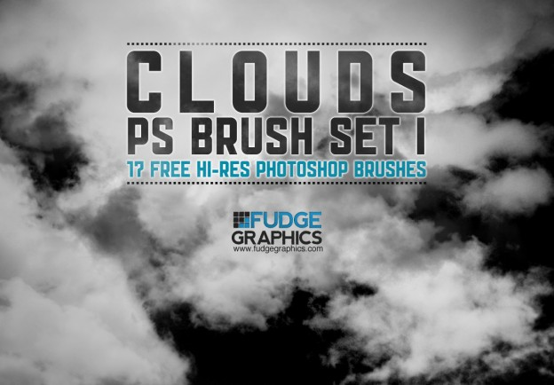 Hi Res Clouds PS Brush Set 1 by fudgegraphics e1362657388791 30+ Free Photoshop Cloud Brushes