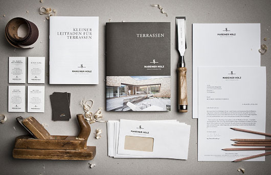 Mareiner Holz corporate identity design 40 Inspirational Creative Brochure Designs