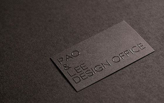 PAO AND LEE DESIGN OFFICE BUSINESS CARD