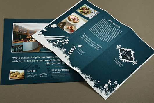 Restaurant and Lounge Menu A superb Collection of Restaurant Brochures