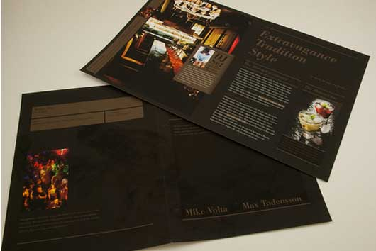Upscale Restaurant and Bar Brochure A superb Collection of Restaurant Brochures