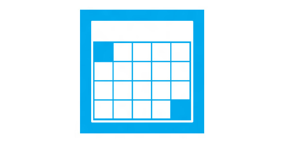 Blue Month Icon