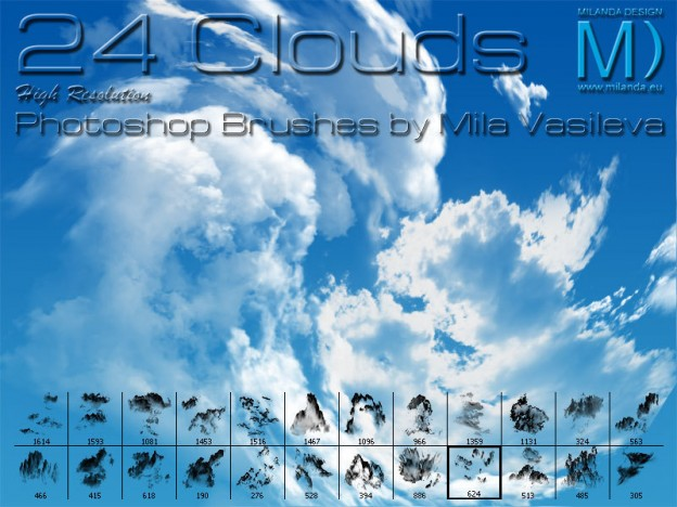 cloud brushes preview e1361166677686 30+ Free Photoshop Cloud Brushes