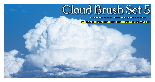 cloud brush set 5 by s3vendays d41vgsw 30+ Free Photoshop Cloud Brushes