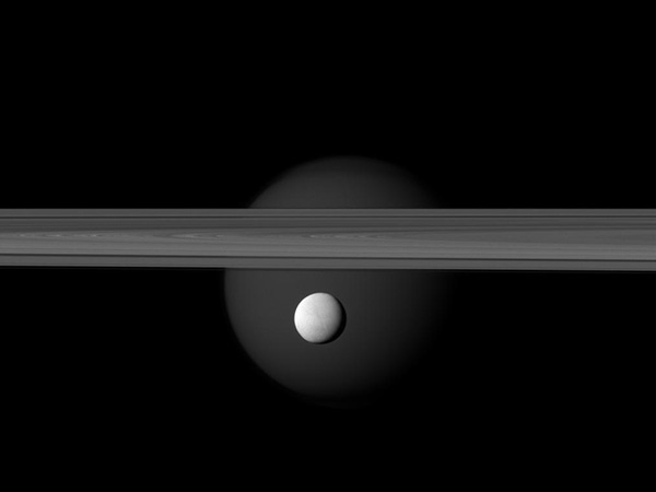 Saturn Satellite And Ring