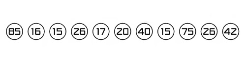 Numbers Style One Font