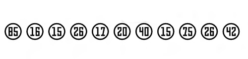 Numbers Style Three Font