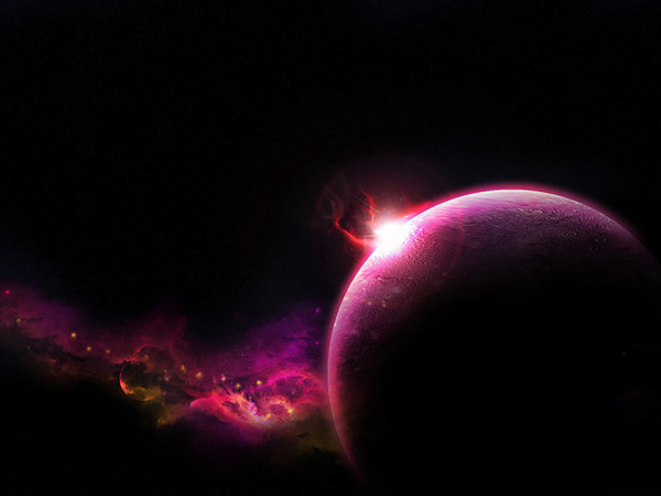 Purple Pink Space