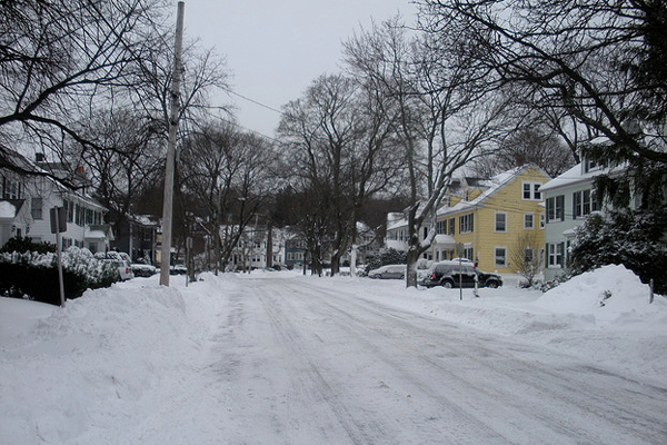 arlington town snow winter streets