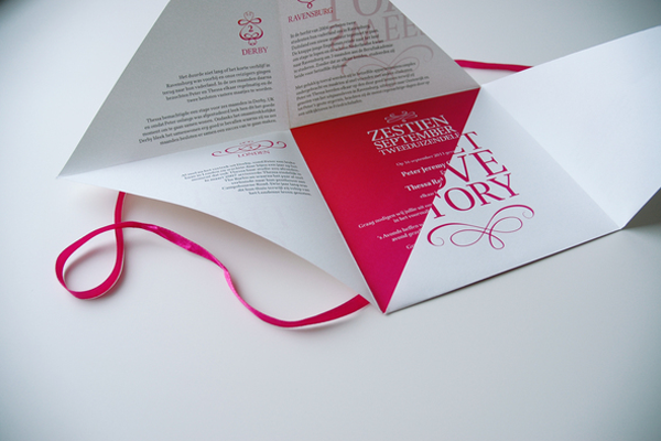 wedding rsvp square wrapping