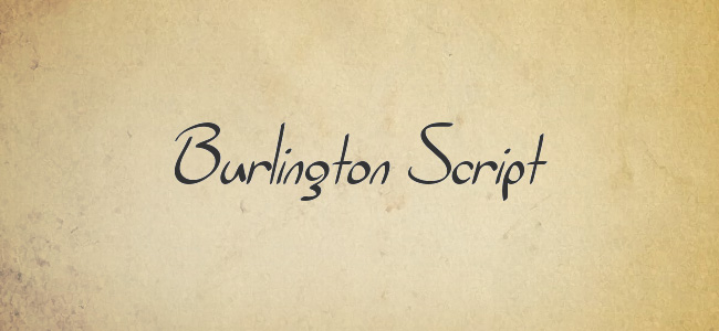Burlington Script Free Handwritten Fonts