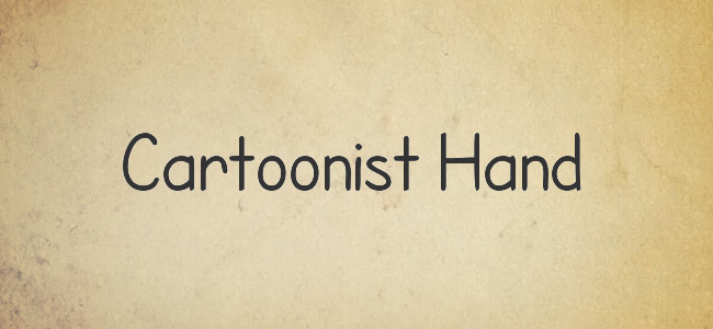 Cartoonist Hand Free Handwritten Fonts