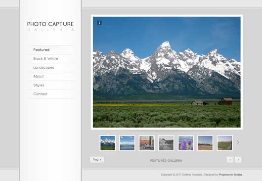 Galleria 25 New WordPress Themes for Photo Gallery