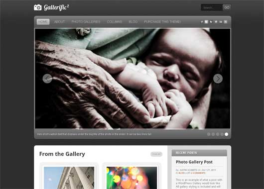 Gallerific 25 New WordPress Themes for Photo Gallery
