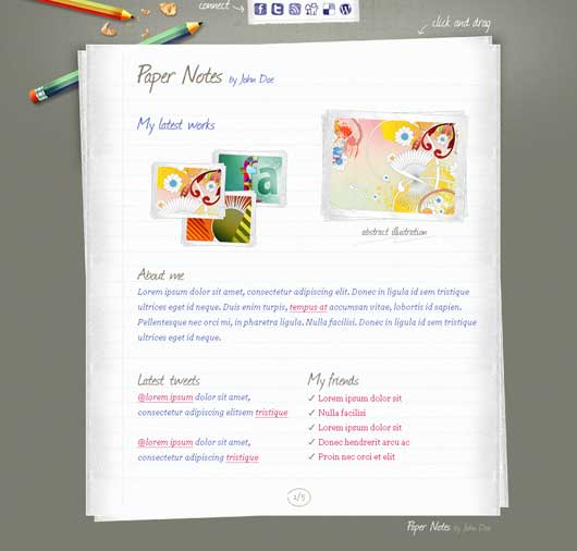 Paper Notes 30 Best Personal WordPress Themes