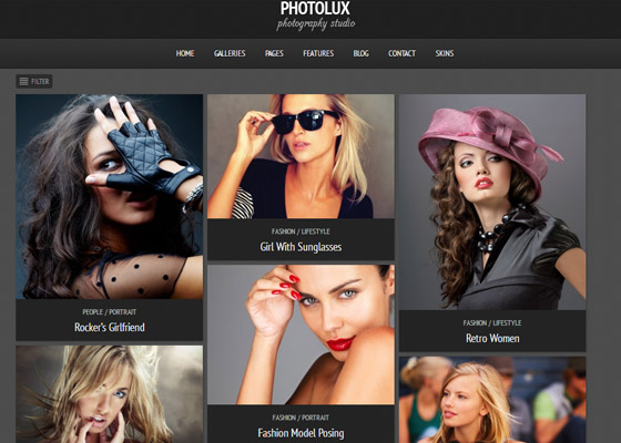 Photolux Photography Portfolio WordPress Theme