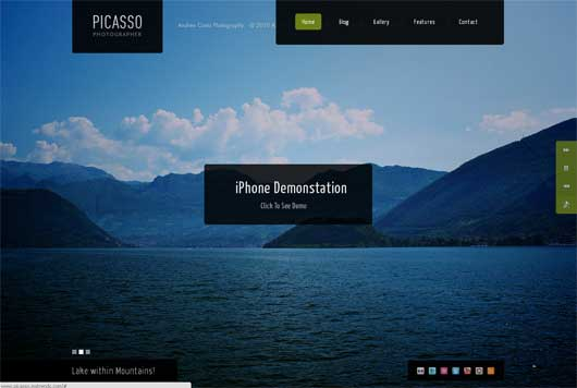 Picasso 25 New WordPress Themes for Photo Gallery