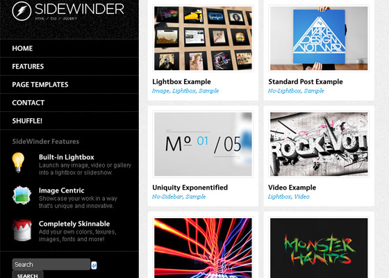 SideWinder for WordPress Dynamic Grid Portfolio