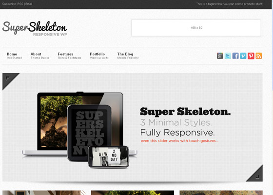 Super Skeleton Responsive Minimal Beautiful WP