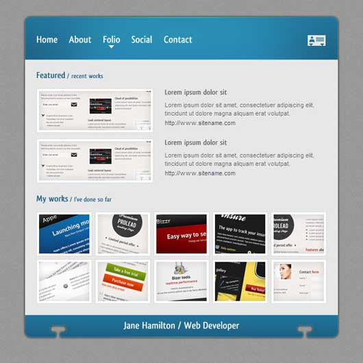 V card Template 30 Best Personal WordPress Themes