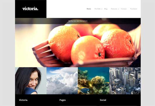 Victoria 25 New WordPress Themes for Photo Gallery