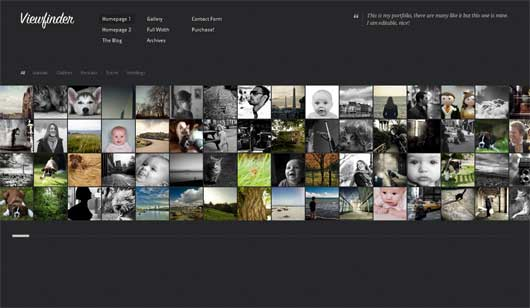 Viewfinder 25 New WordPress Themes for Photo Gallery