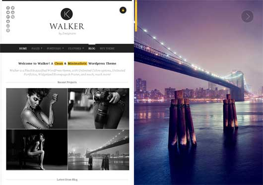 Walker 25 New WordPress Themes for Photo Gallery