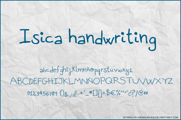 isica handwriting font by stardixa resources d3kzukx Free Handwritten Fonts