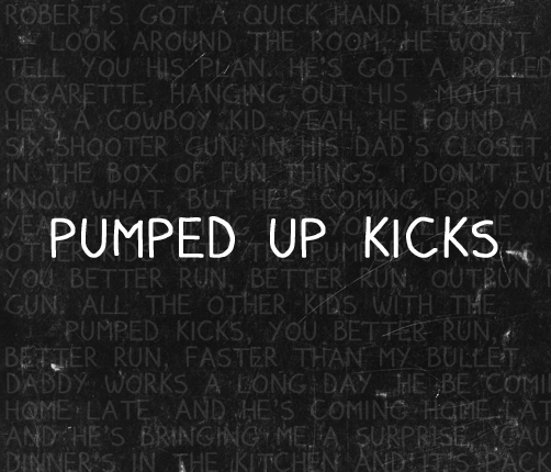 pumped up kicks font by residentbadgirl d4j0jmo Free Handwritten Fonts