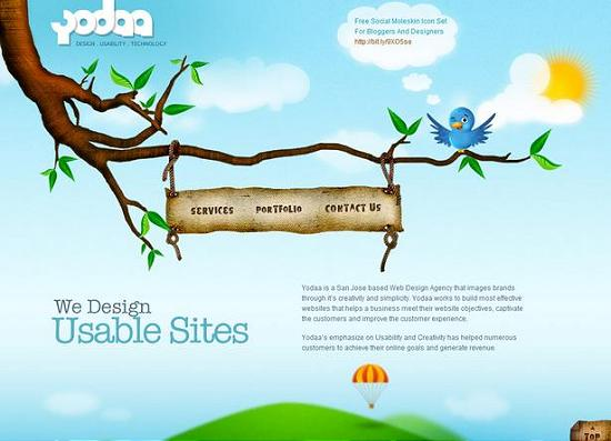single page site 19 Outstanding and Creative Single Page Websites