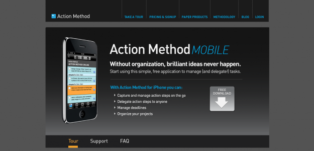 actionmathod e1270283781706 Attractive Websites for iPhone Applications