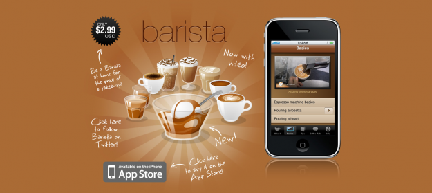 barista e1270235400378 Attractive Websites for iPhone Applications