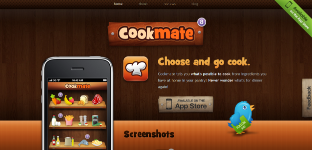cookmate e1270234695503 Attractive Websites for iPhone Applications