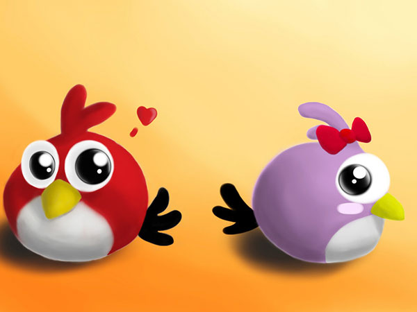 Angry Birds Romance Pic