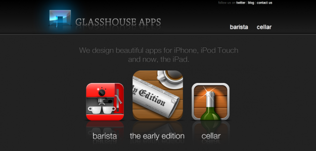 glassapps e1270284183160 Attractive Websites for iPhone Applications