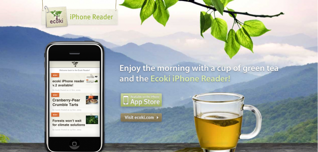 iphonereader e1270279702148 Attractive Websites for iPhone Applications
