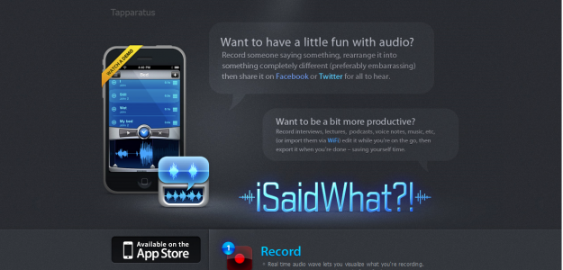 issaidwhatis e1270292385845 Attractive Websites for iPhone Applications