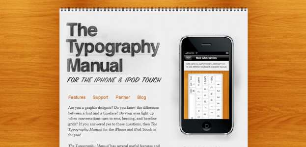 typography e1270286425595 Attractive Websites for iPhone Applications