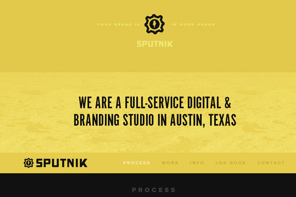 sputnik creative yellow website interface