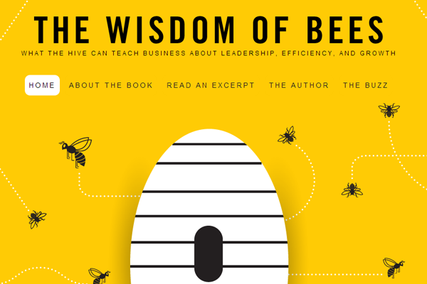 wisdom bees beehive yellow website illustration