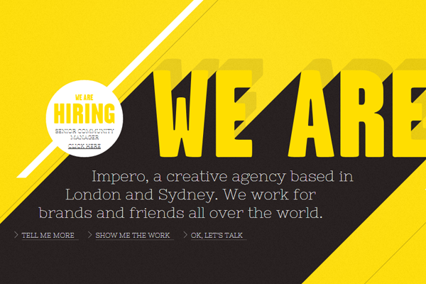 yellow sydney australia london ui effects agency design