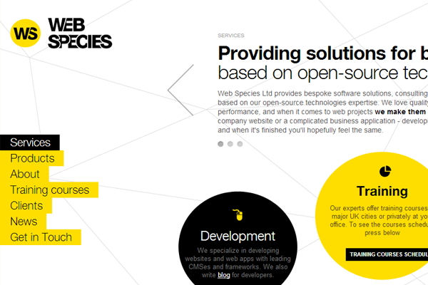yellow website layout inspiring design interface
