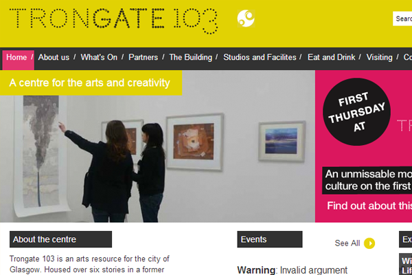 trongate website yellow inspiration ideas