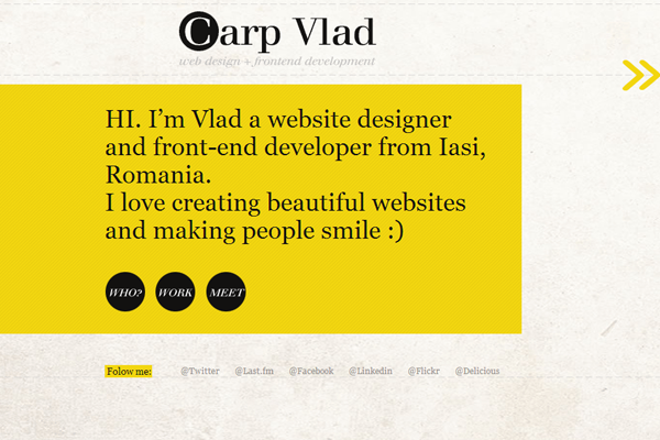 inspiring yellow website layout designs trends